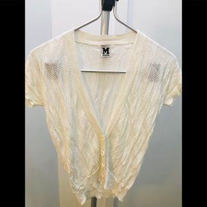 🌸 MISSONI Short Sleeve Cardigan- Size 40 🌸